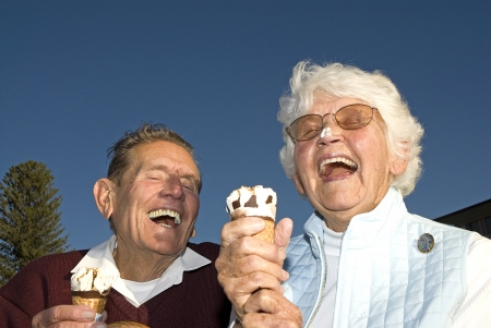 Ice cream on your nose, funny