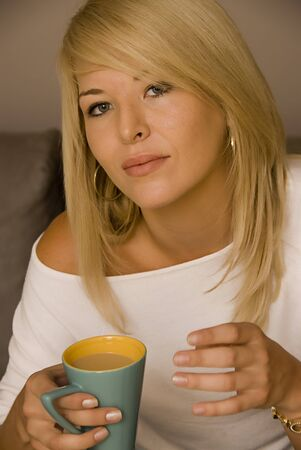 Young woman with coffee