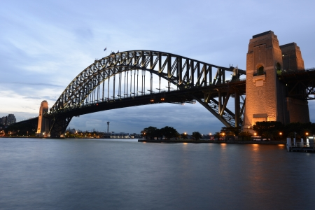Sydney Harbour Bridge at sunset photo
