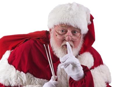 Shhh Kerstman Stockfoto