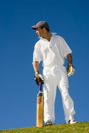 cricketer: Cricketer in action