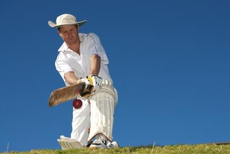 cricket: Giocatore di cricket in azione