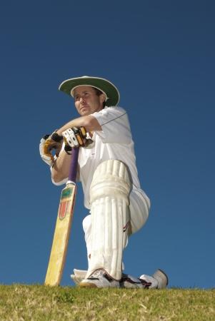 Cricketer waiting