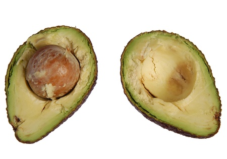 Fresh season avacado cut in half ready to eat