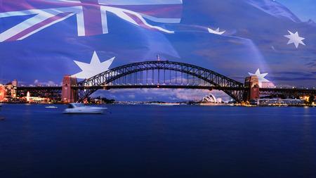 Sydney Harbour Bridge at dusk Standard-Bild