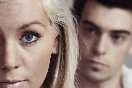 Domestic violence Standard-Bild