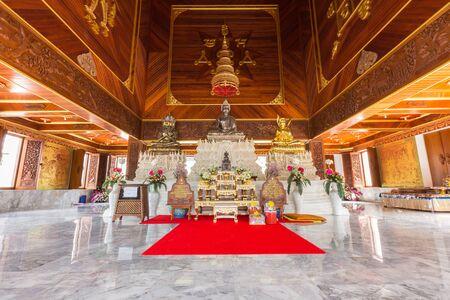 Golden buddha statue in temple thailand