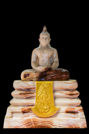 beliefs: Buddha carved out of solid rock sacred power of grace Avoid security beliefs Asia southern thailand Stock Photo