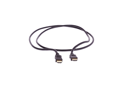 black headed: hdmi cable digital black headed golden white backdrop photo obviously blur