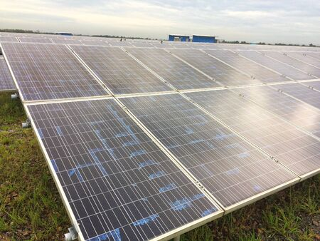 Solar cell farm natural energy sources