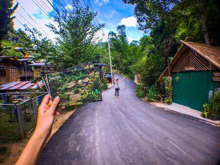 pong: Countryside Mae Kham Pong Stock Photo