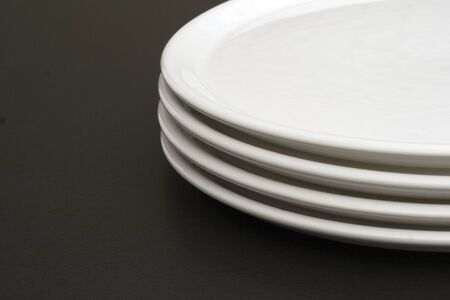 exemption: White plates with text Exemption Stock Photo