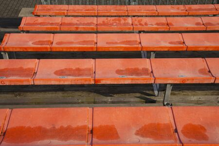 tribune: Empty stands on a lonely tribune