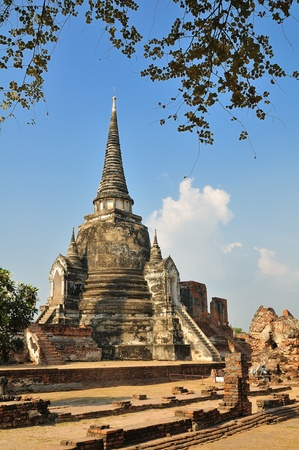 Pagoda at Phra Nakhon Si Ayutthaya Stock Photo