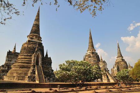 Pagodas at Phra Nakhon Si Ayutthaya Stock Photo