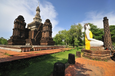 Siam Ancient Pagoda Stock Photo