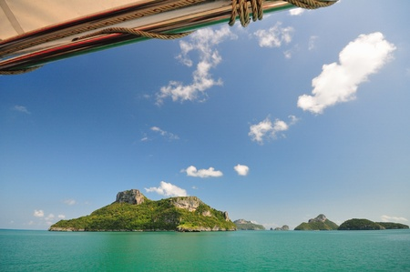 The landscape of sea island