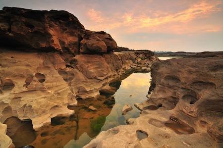 Sam-Pan-Bok Grand Canyon, Mekhong River, Ubon Ratchathani, Thailand photo