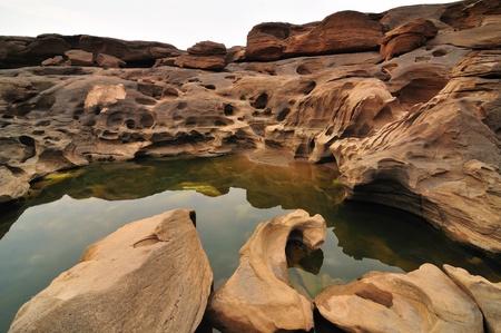 Sam-Pan-Bok Grand Canyon, Mekhong River, Ubon Ratchathani, Thailand Stock Photo - 13429459