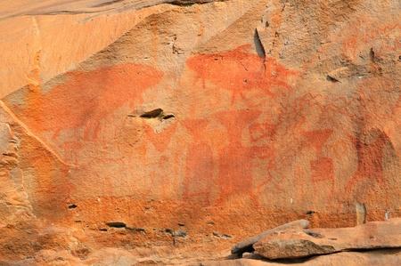 Famous prehistoric rock painting of Ubonratchathani, Thailand