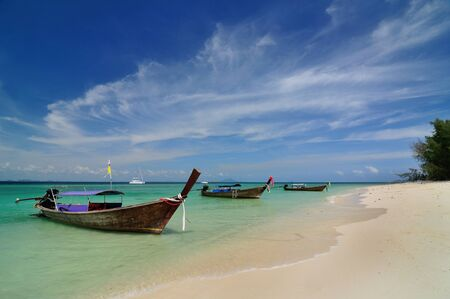 s on beautiful beach at Phi Phi island, Thailand photo