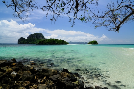 Ocean beach at Chicken Island, Krabi, Thailand