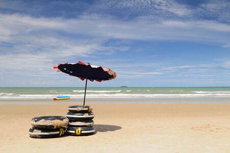 The beach is Lammaepim bay, Rayong, Thailand