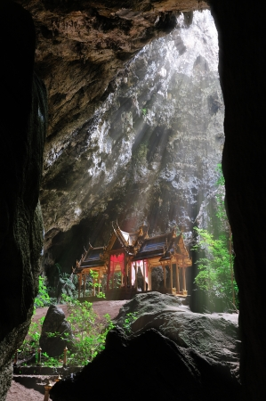 permits: The cave has a big hole through which a shaft of light reaches and permits the growth of various kinds of plants. Visitors will arrive at a famous cave called Tham Phraya Nakhon