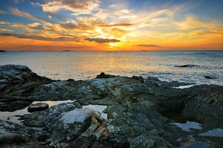 Ocean twilight photo