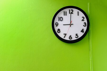 time zone: Clock showing 9 o clock  Stock Photo