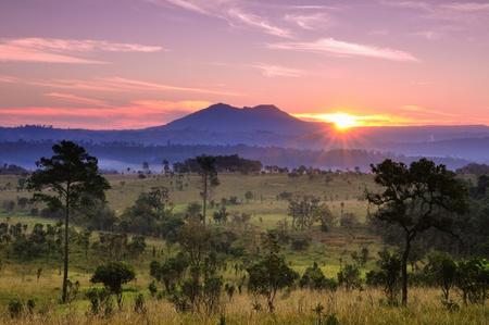 morning sunlight on beautiful landscape