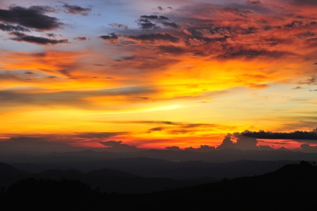 Beautiful clouds and sky sunset, Thailand