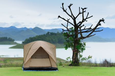 the tent on Camping site