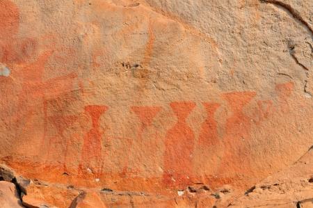 rock painting: Famous prehistoric rock painting of Ubonratchathani, Thailand