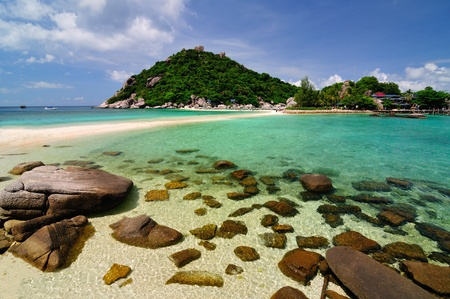 Tropical island, Koh NangYuan, Thailand photo