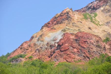 active volcano: View of active volcano, Usu-zan, Hokkaido, Japan