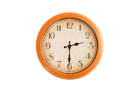 Isolated clock showing 2:30 oclock