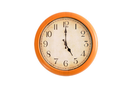 Isolated clock showing 5:00 oclock