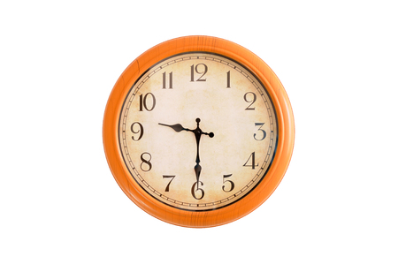 oclock: Isolated clock showing 9:30 oclock Stock Photo