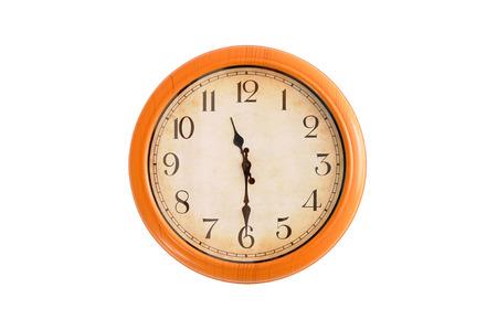 o'clock: Isolated clock showing 11:30 oclock