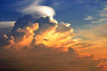 dramatic: dramatic cloudscape at sunset