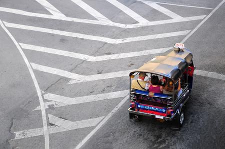 tuk: Aeria view of Tuk Tuk Thai Style Taxi