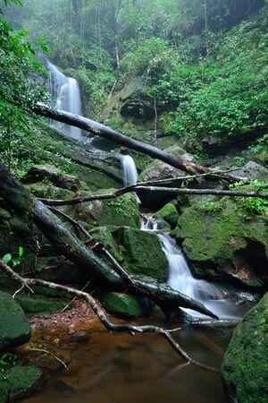 Beautiful waterfall stream at Phu-Soi-Dao National Park, Thailand