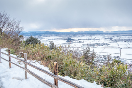 View of Hachiman mountain in Omihachiman city, Kyoto prefecture