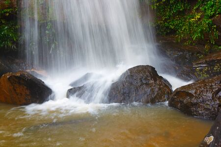 thani: Waterfall is a natural attraction to beautiful forest park and a cool, clear river.