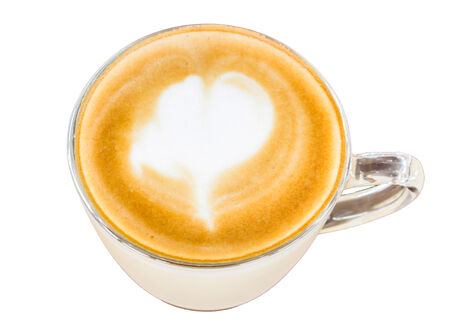 cappaccino: Cappuccino or latte coffee on white background