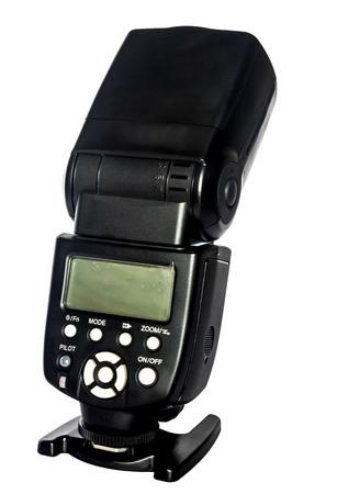 Photo camera flash isolated on white background photo