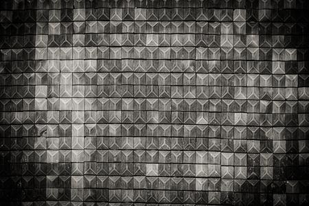 パターン舗装タイル、セメントレンガの床の背景 写真素材