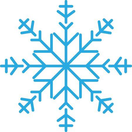 Snowflake icon on white background, vector illustration.  イラスト・ベクター素材