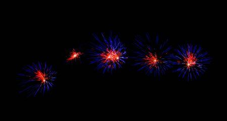 カラフルな花火
